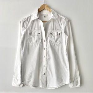 NEW Banana Republic Snap Front Cotton Shirt